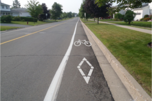 First dedicated bike routes & lanes