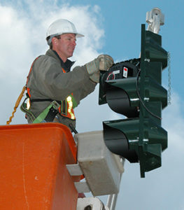 Traffic signals switched to LED
